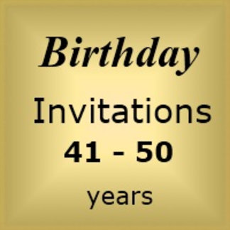 Invites Birthday : Age 41-50