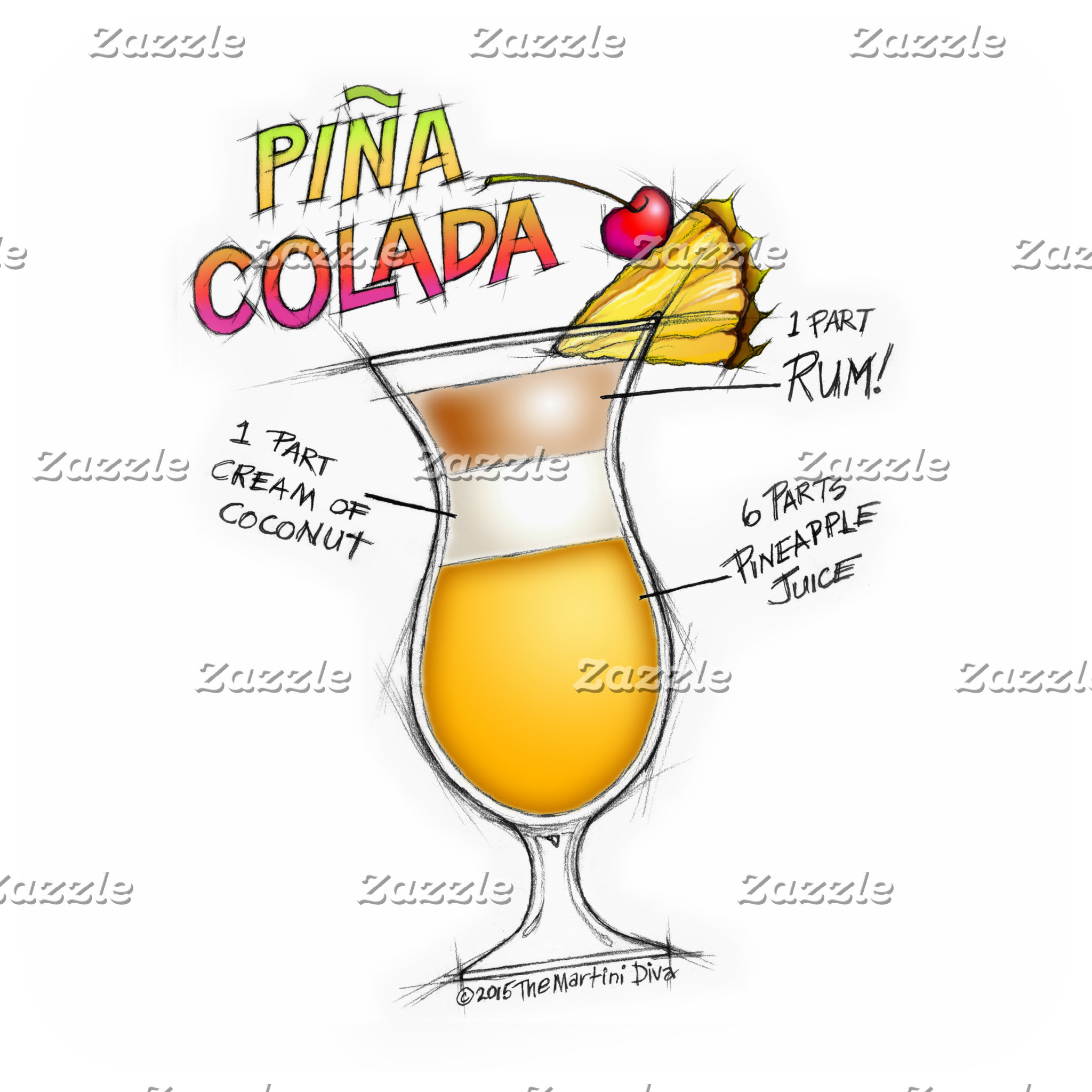 ac. PINA COLADA RECIPE COCKTAIL ART