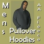 American Apparel Fleece Pullovers for Men