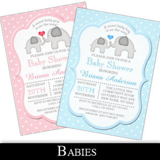 Baby Announcements, Showers, and More