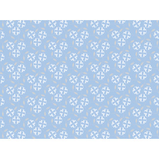 Little White Flowers & Blue Background Pattern
