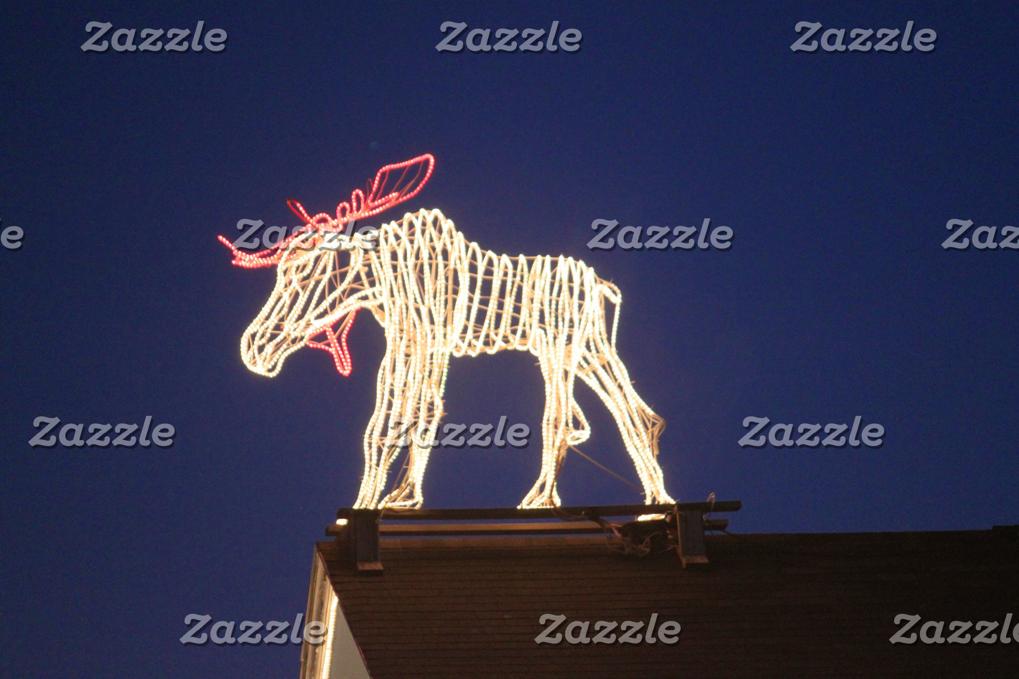Lighted Moose 7636