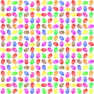 Easter Eggs Flowery Colorful