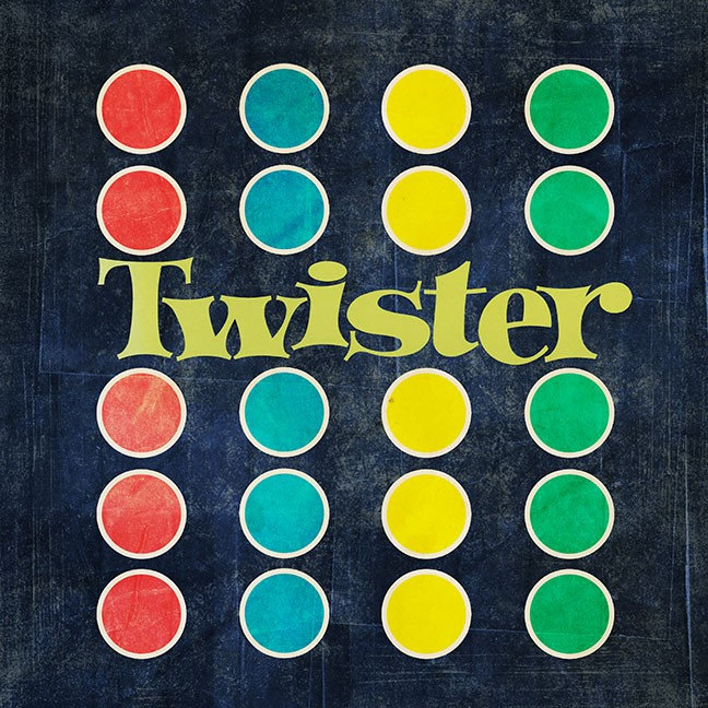 Twister Logo in Game Mat