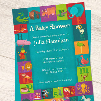 ABCs & Animals Baby Shower Suite