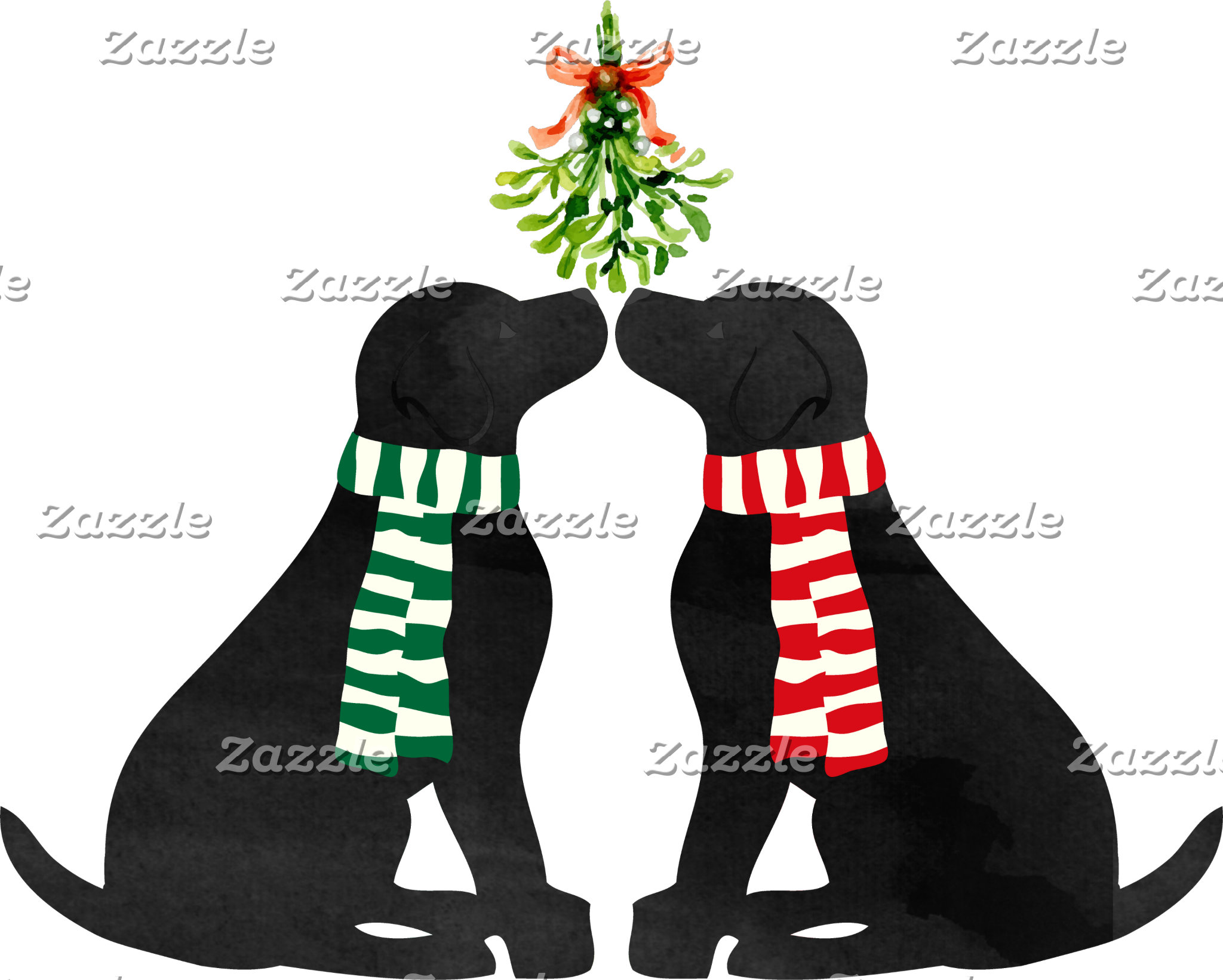 Black Labs Mistletoe