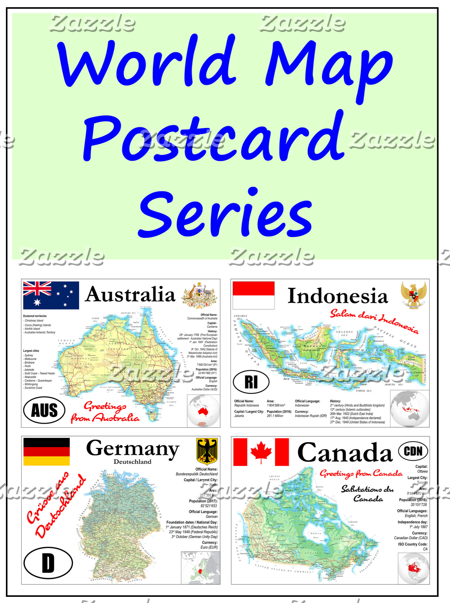 World Map cards