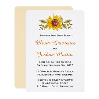 Rustic Watercolor Sunflower