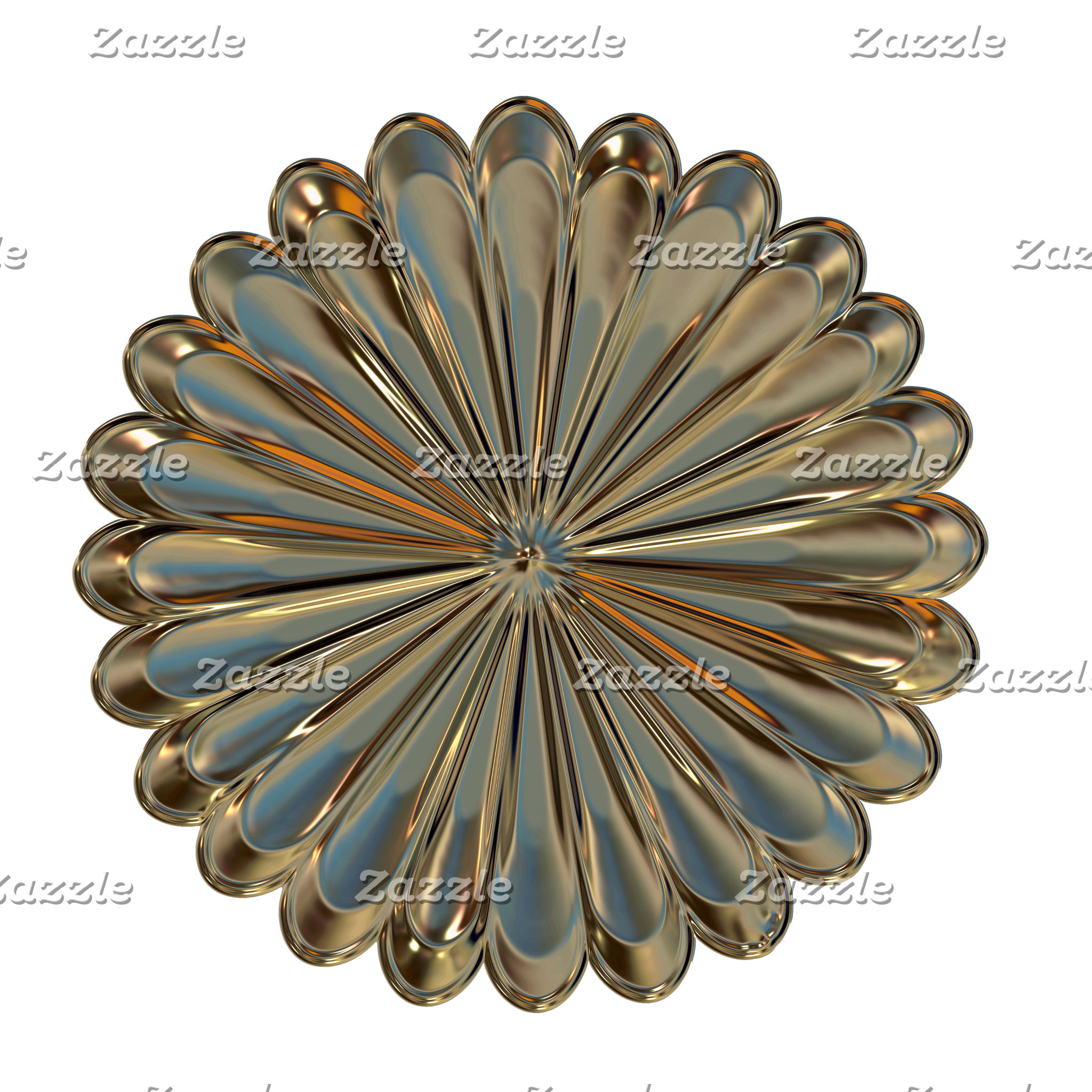 Art deco flower medallion