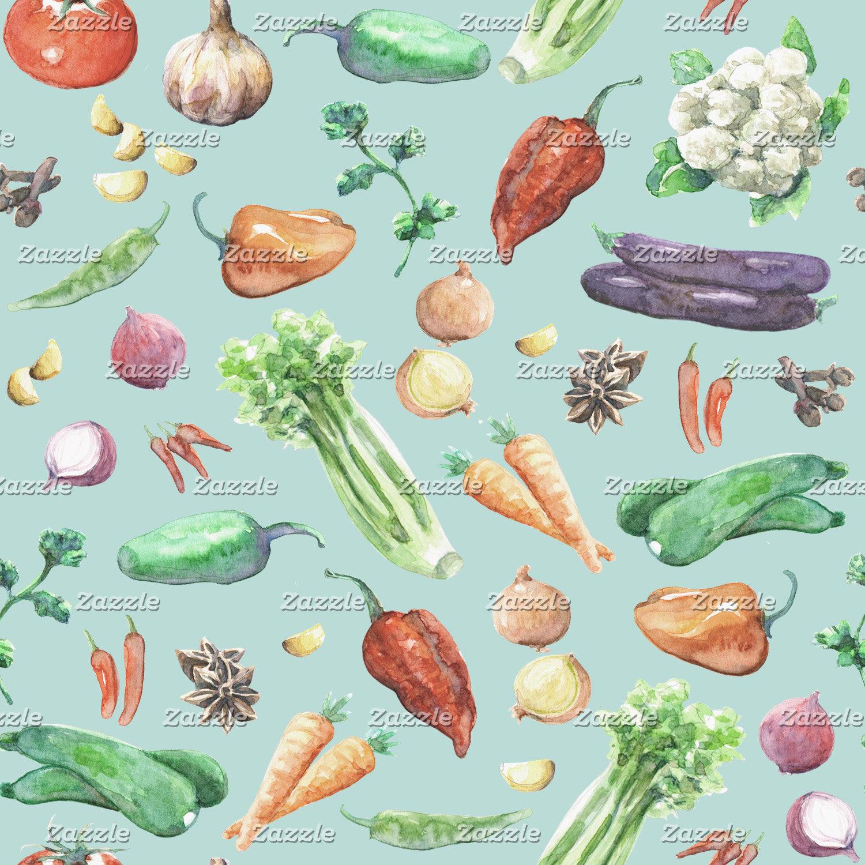 Watercolor Veggies