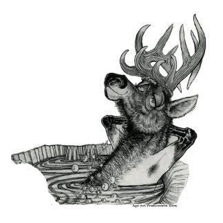 HIDDEN WALLOW Elk in Tub