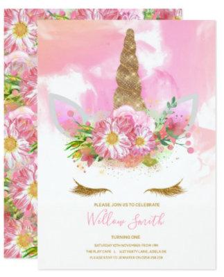Girl's Birthday Party Invitations