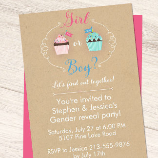 Pink & Blue Cupcakes Baby Shower Suite