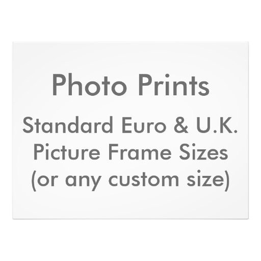 Picture Frame Sizes (Europe & UK)