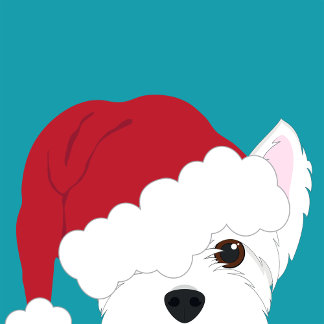 West Highland Terrier Santa Claus
