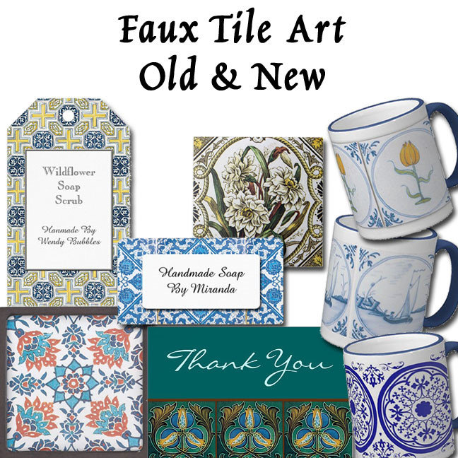 Faux Tile Patterns New and Vintage