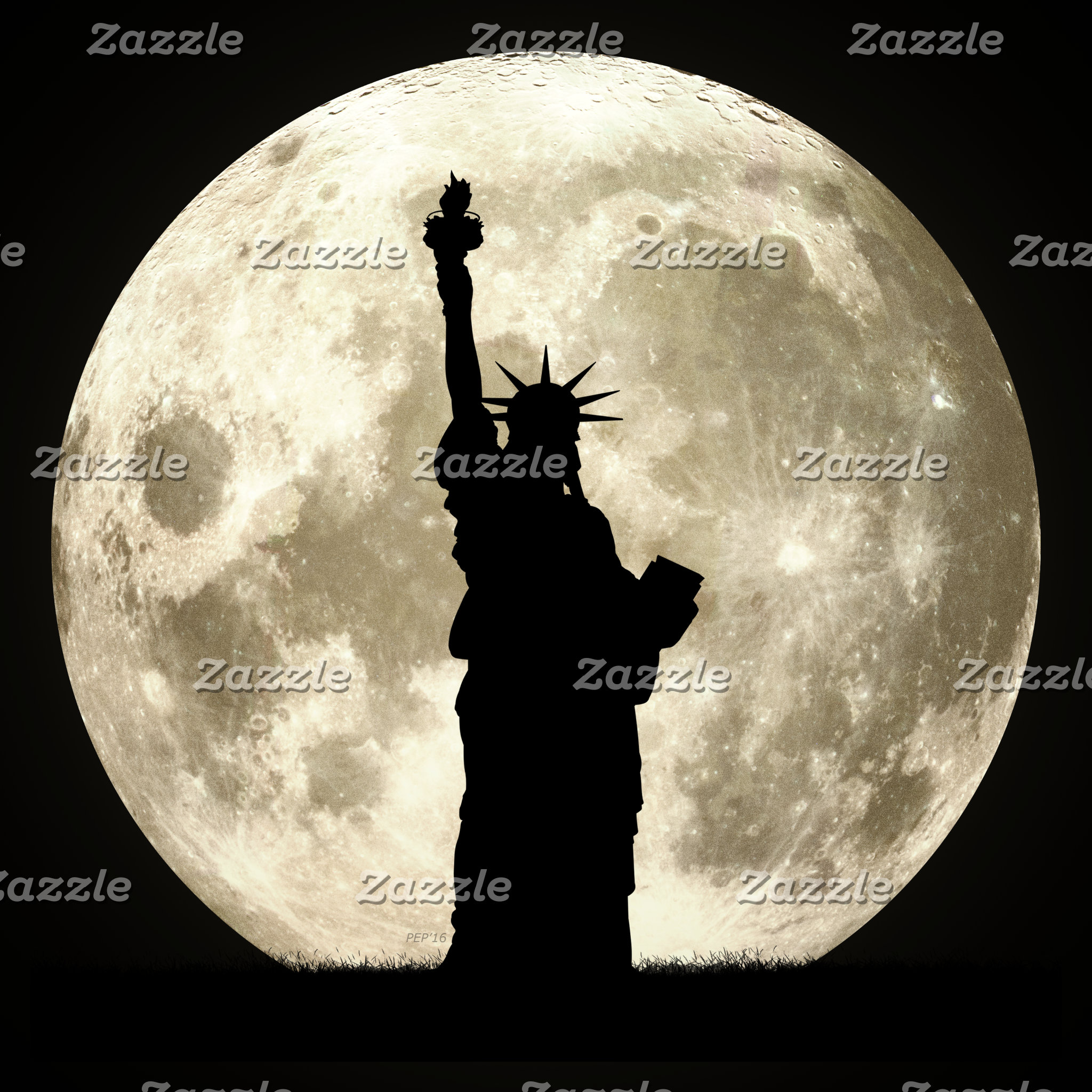 Full Moon Liberty Silhouette