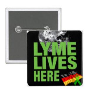 Buttons for Lyme Disease/ Borreliosis