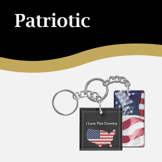 Patriotic Keychains