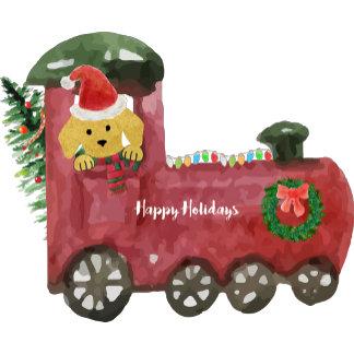 Christmas Train Preppy Golden
