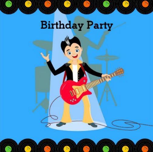 Rock Star Kid Birthday Party Theme