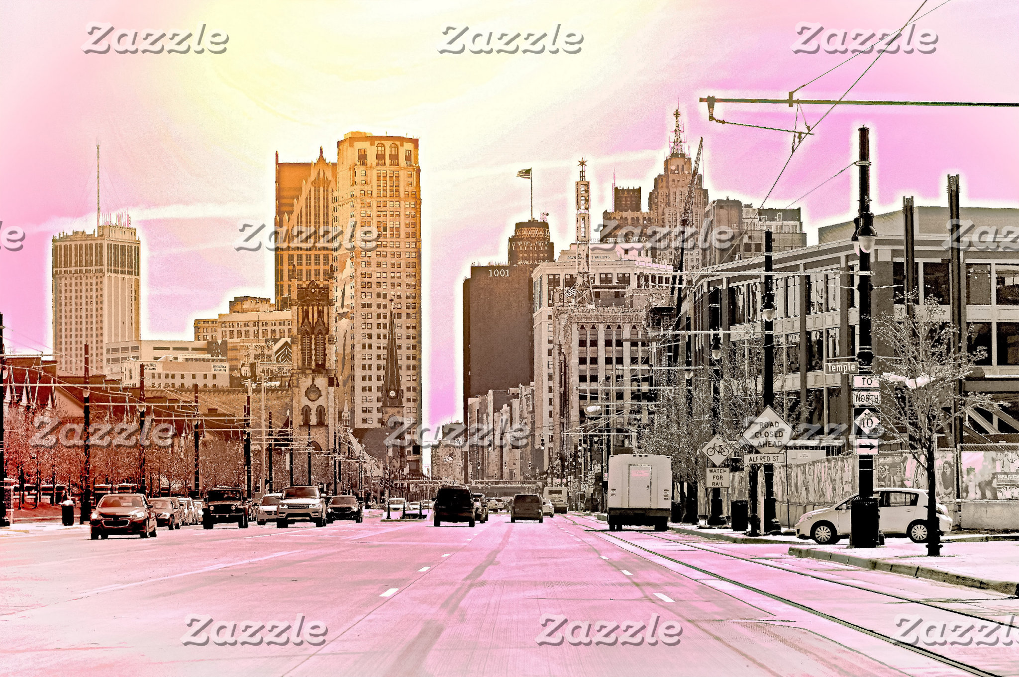 Detroit in Pink