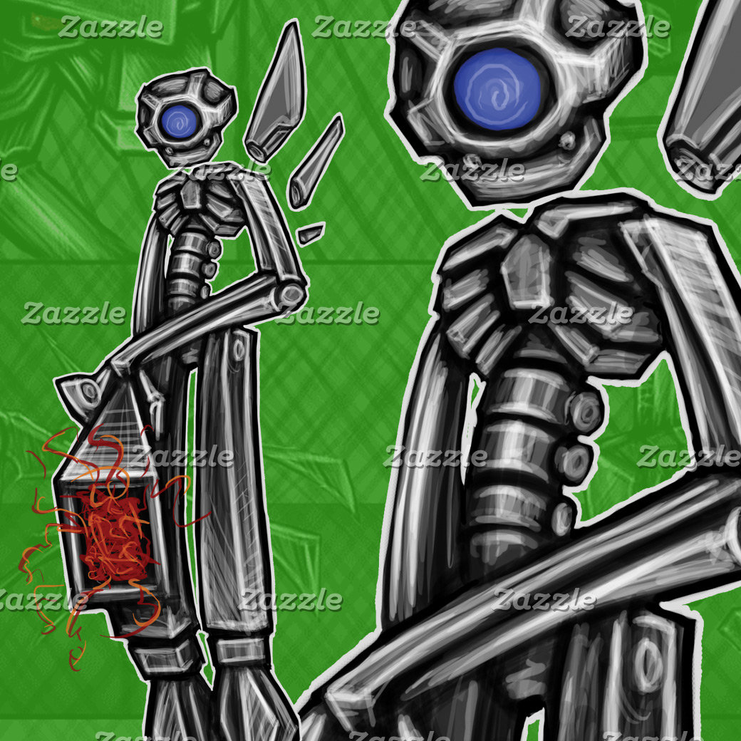 Zero-Day Graffiti Gunner Robot