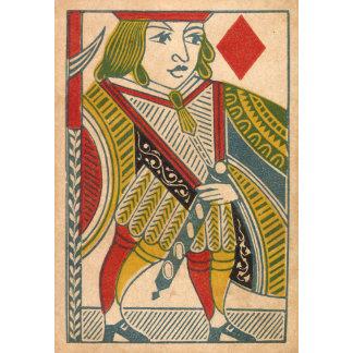 """Jack of Diamonds Card Poster Print"""