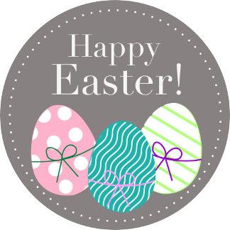 Happy Easter - Grey