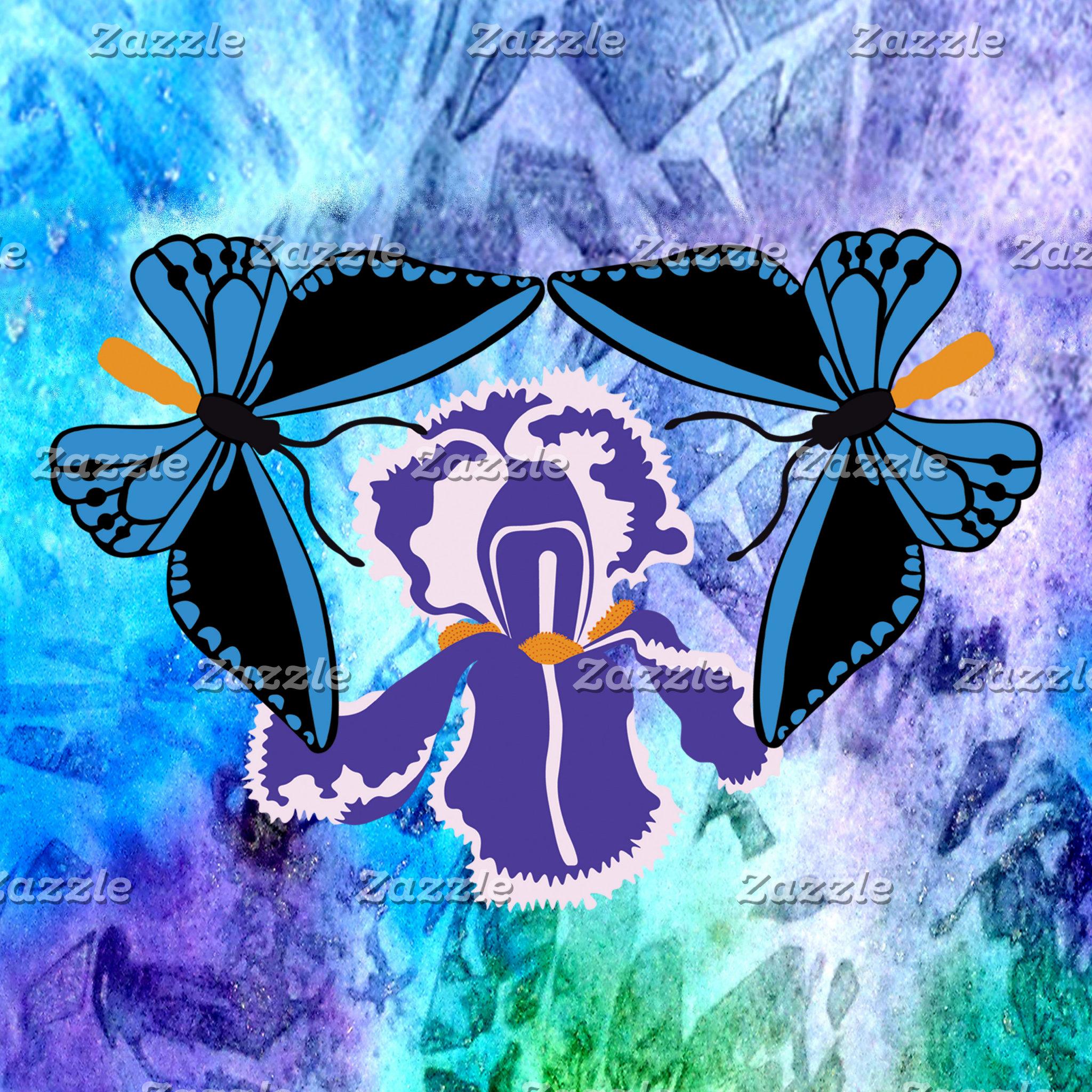 Birdwing Butterfly on Iris