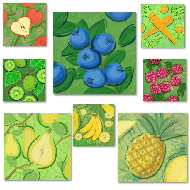 Fruit and Veggie Tile