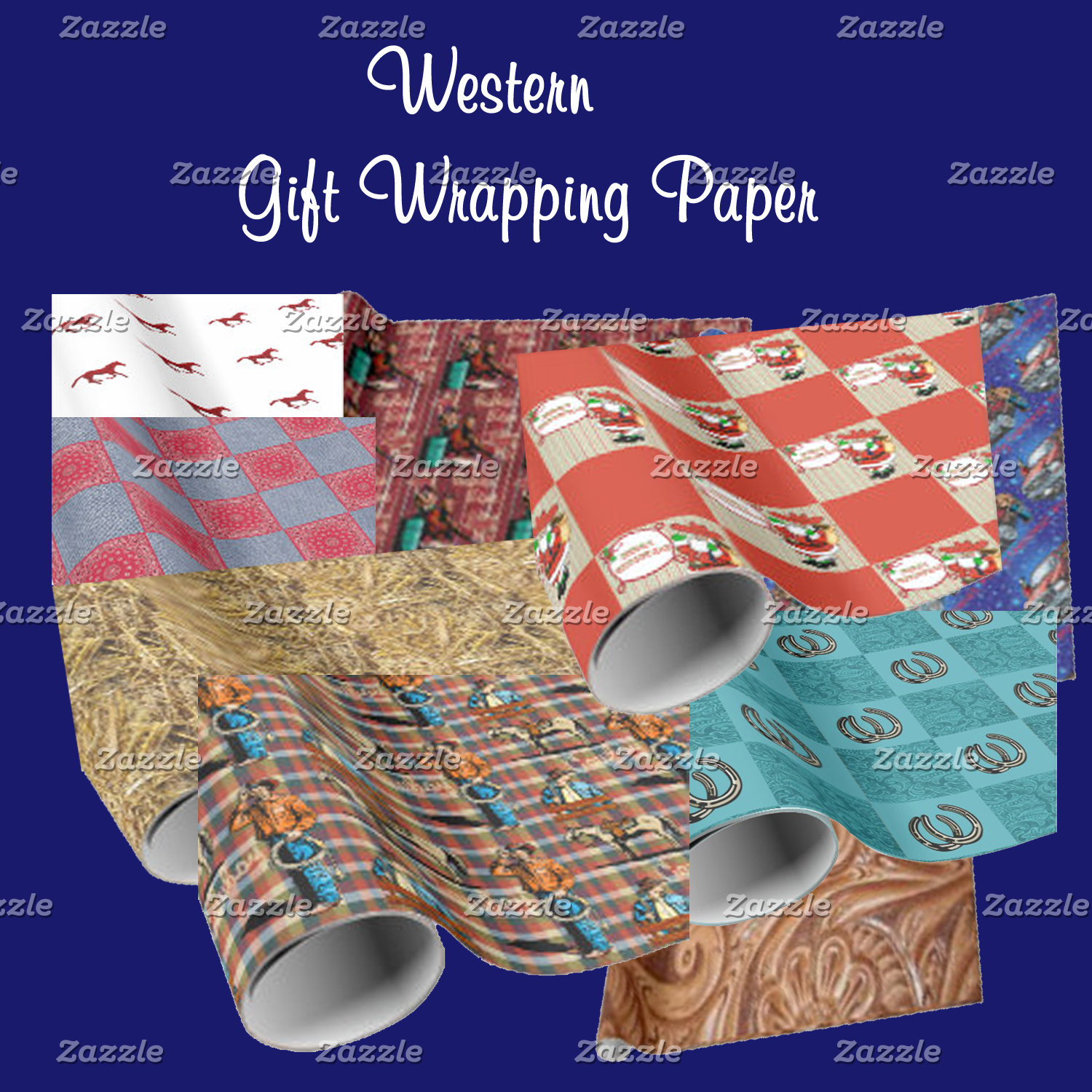 Western Gift Wrap - Bags - Boxes