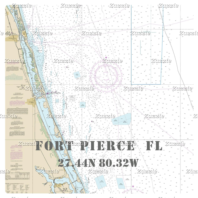 Nautical Boating Charts: Fort Pierce Florida