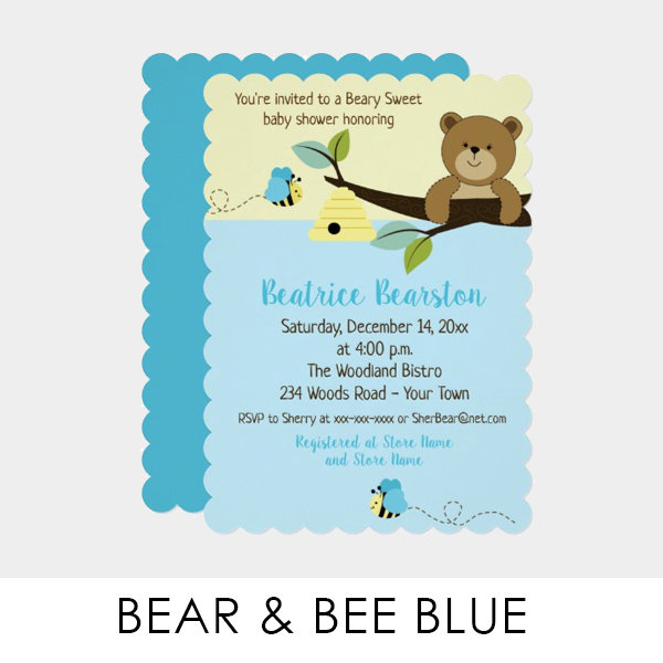 Bear and Bumble Bee (Blue)