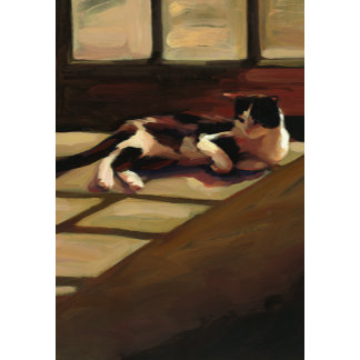 """Black and White Cat Poster Print"""
