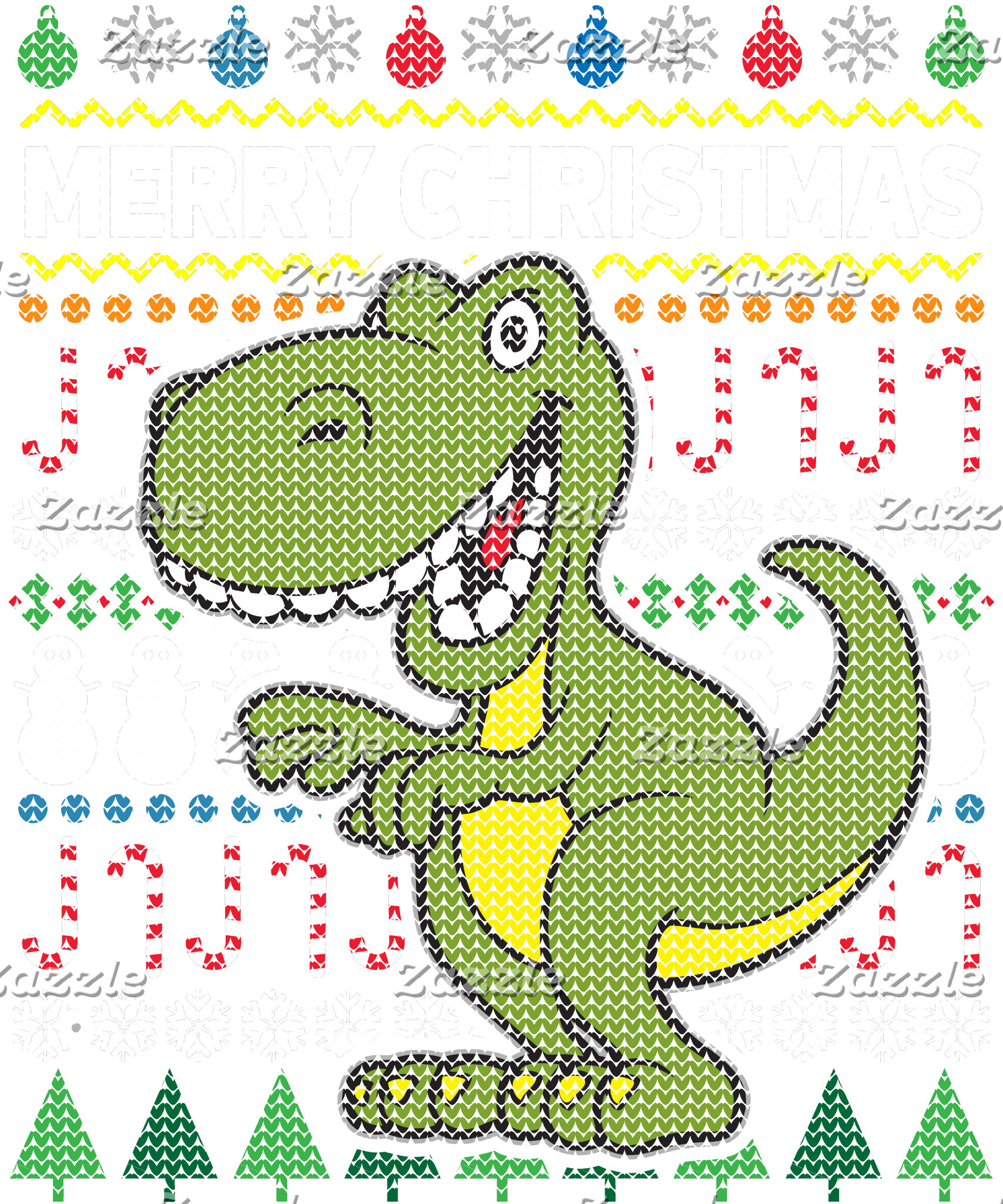 Dino Green Ugly Sweater