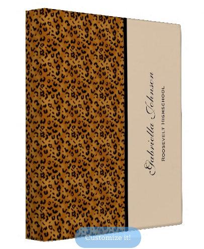 Leopard Print: Avery Signature Binders
