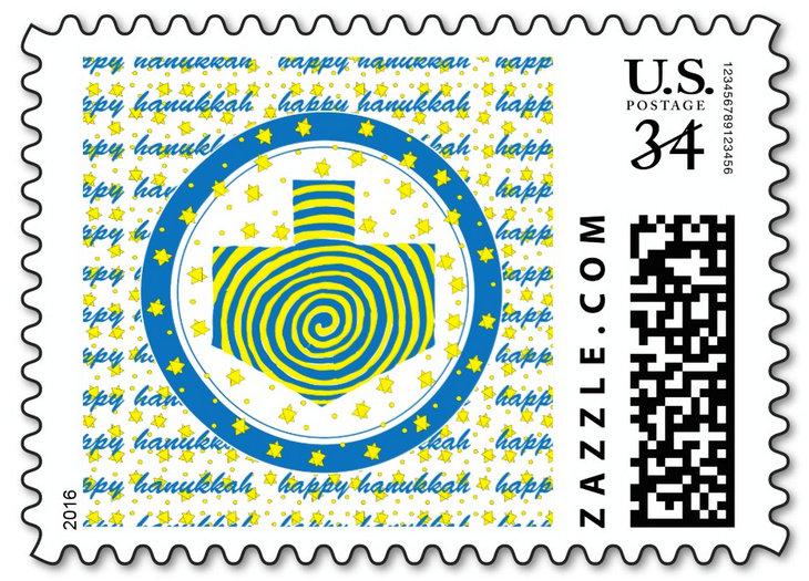 Hanukkah Cards, Postage, Labels