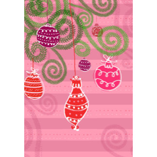 pink and purple ornaments