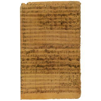 Vintage Sheet Music by Bach
