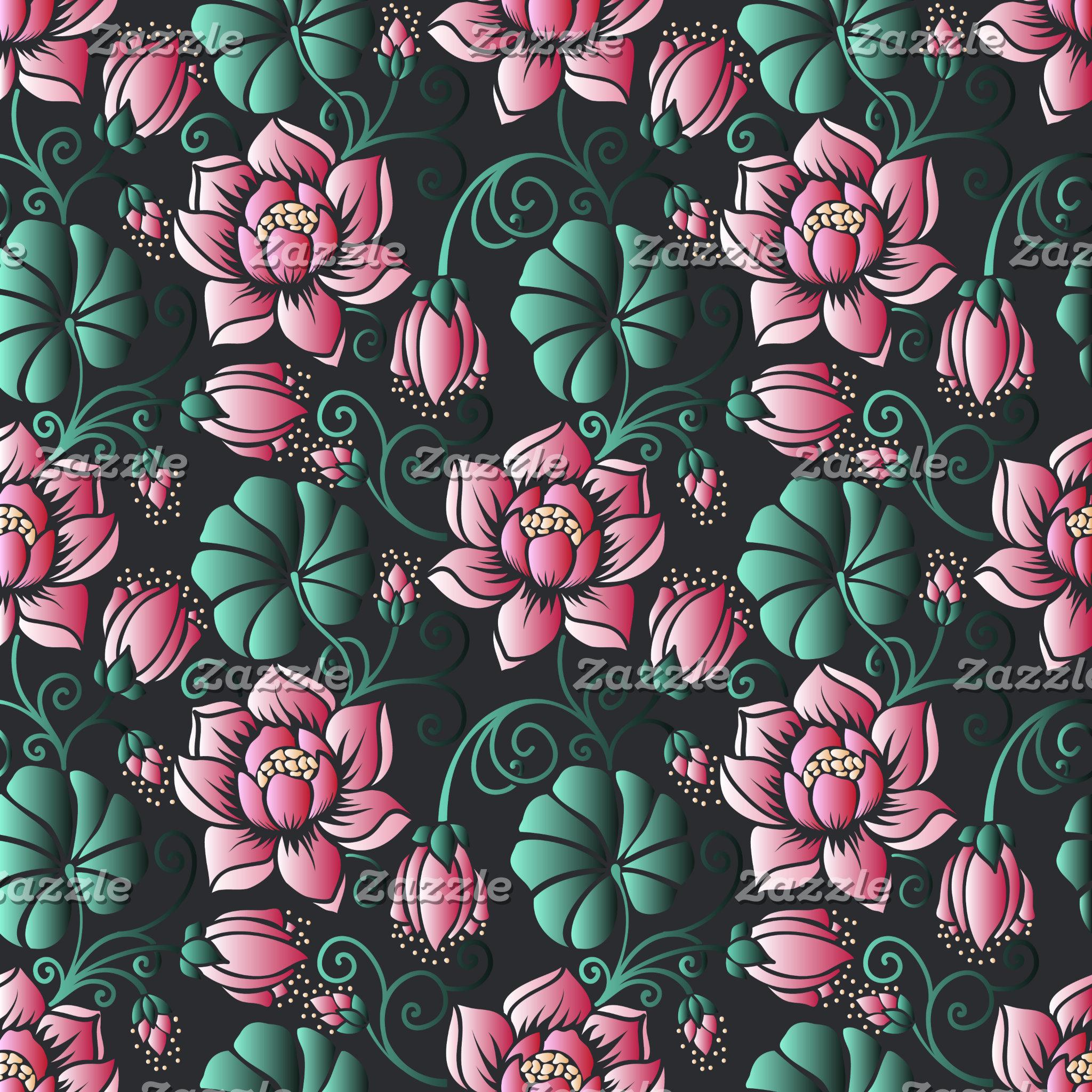 3D lotus motif