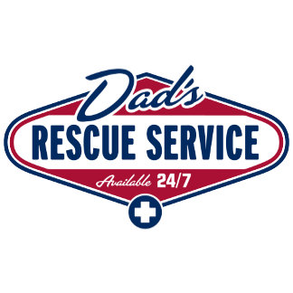 Dad's Rescue Service Label