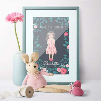 Flower Girl Personalize Portrait