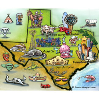 Texas Cartoon Map