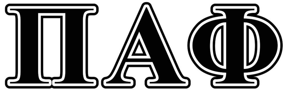 Pi Alpha Phi Black Letters