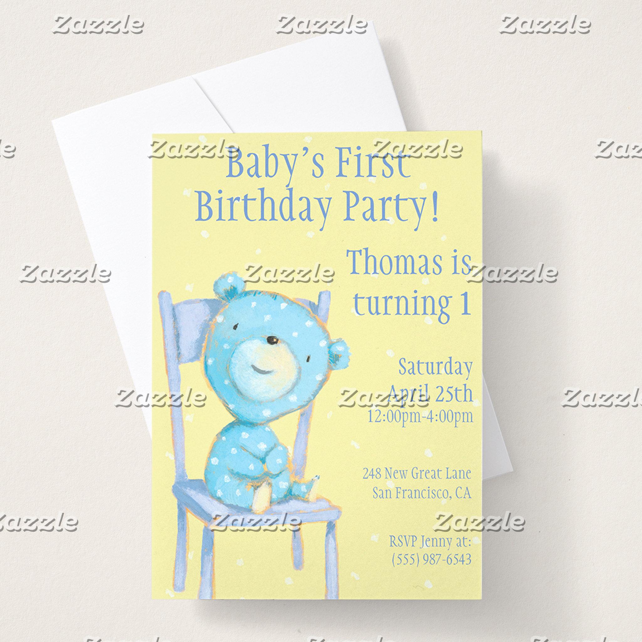 Bears On Chairs Birthday