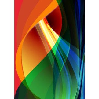 Orange Green Swirl