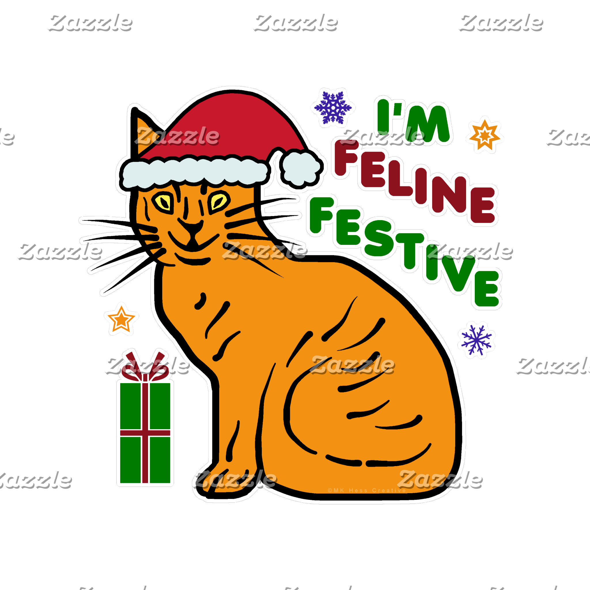 Feline Festive Christmas Cat