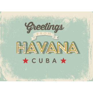 Retro Havana Greetings