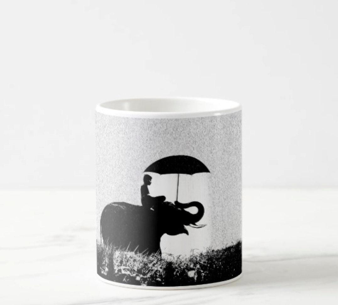 Elephant rain Art- Mugs